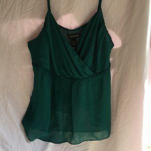 Jade green summer top
